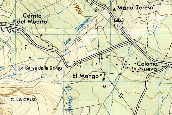 La Curva De La Gringa The American Womans Curve A Place Name - Michoacan mexico map