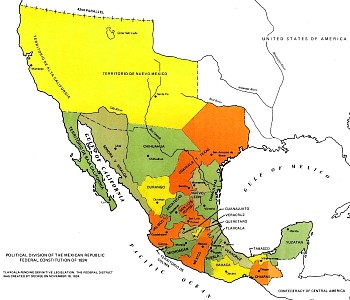 Map of Mexico, 1824
