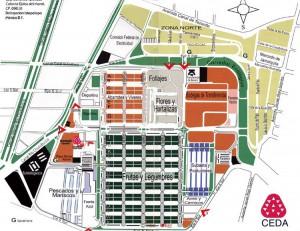 Map of Central de Abasto, Mexico City