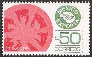 Stamp showing tomato exports