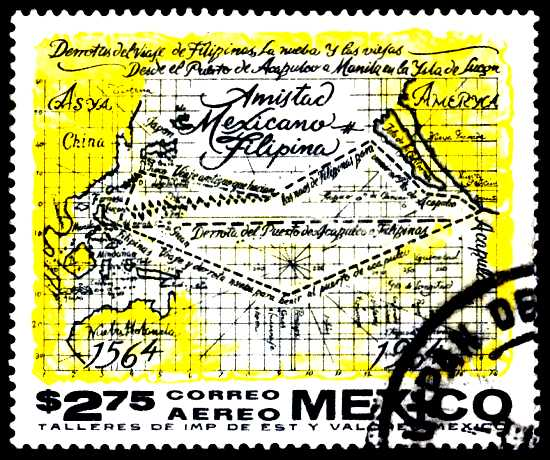 Mexican postage stamp commemorates 400 years of Mexico-Philippines friendship