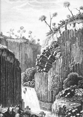 Prismas de basalto en San Miguel Regla