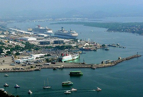 The port of Mazatlán