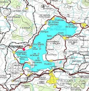 Map showing location of Napizaro, Michoacan