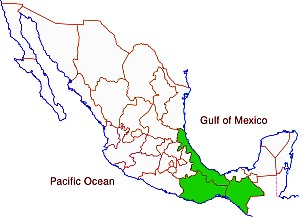 The three most biodiverse states in Mexico