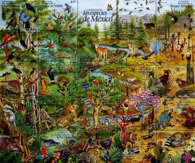 Mexico's postage stamps regularly celebrate biodiveristy