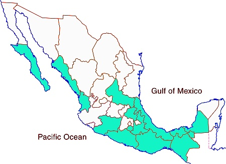 map of potable water in Mexico
