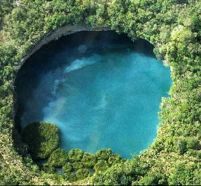 The Zacatón Sinkhole