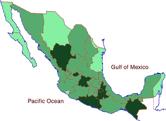 Average household size in Mexico, 2010