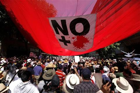 Protest march against drug violence (Mexico City, May 2011)