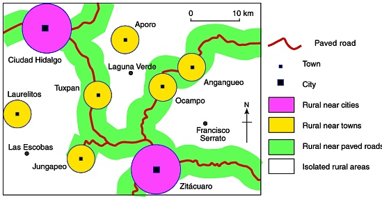 CONAPO's categories of rural area applied to eastern Michoacán