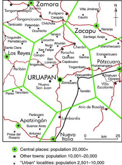 The application of central place theory to Uruapan, Michoacán