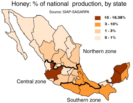 Honey production in Mexico
