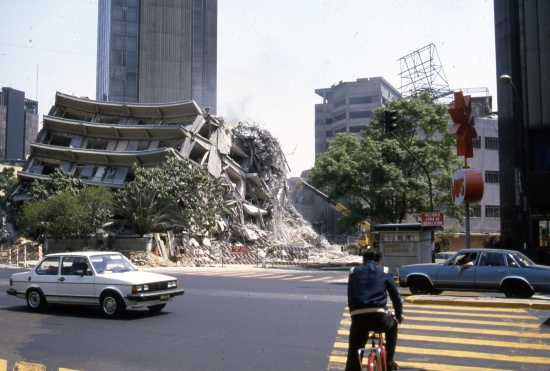 Damage from Mexico City's 1985 earthquake