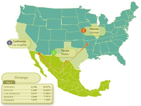 Migration GeoMexico The Geography Of Mexico Part - Us and mexico map