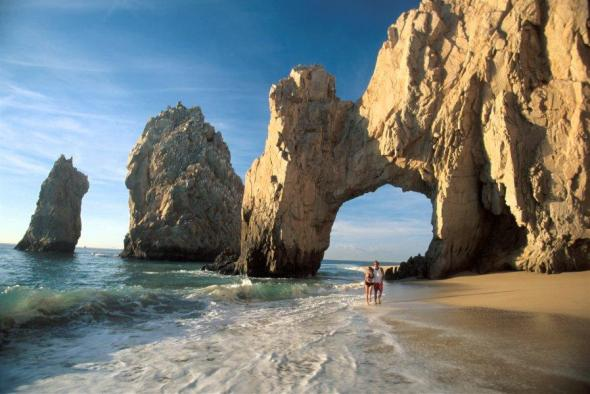 The marine arch at Cabo San Lucas, an example of a geomorphosite