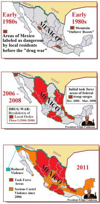 diffusion of violence in Mexico