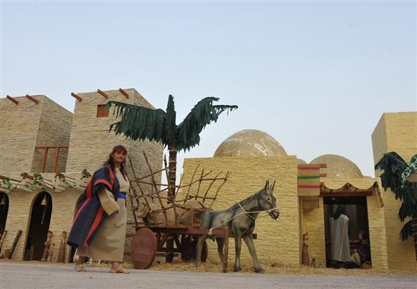 The world's largest Nativity Scene. Credit: Mario Guzman / EPA