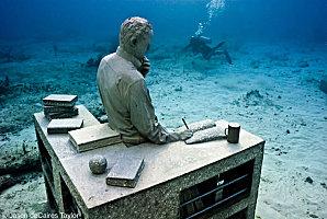Concrete sculpture, Cancún