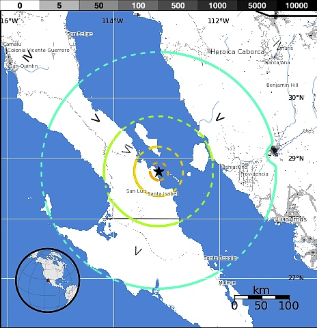 Few people live in the region struck by the Santa Isabel earthquake.