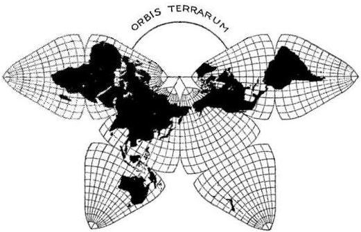 The original Cahill projection (1909). Credit: Gene Keyes