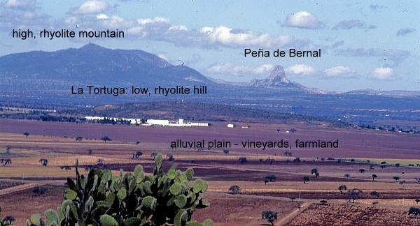 """View looking north from """"Las Cruces"""" near Tequisquiapan. Photo: Tony Burton; all rights reserved."""