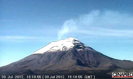 Popocatepetl, 30 July 2012