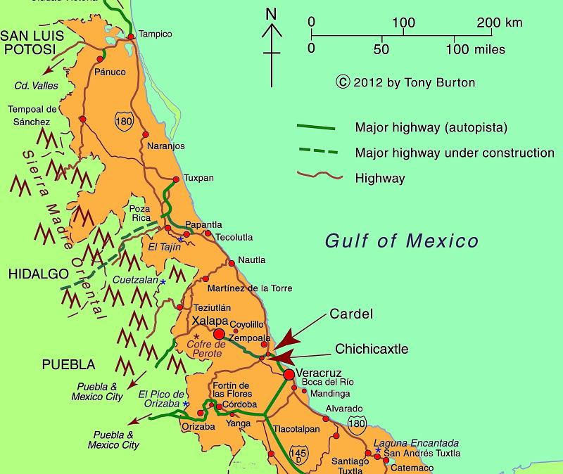 Map of Central Veracruz