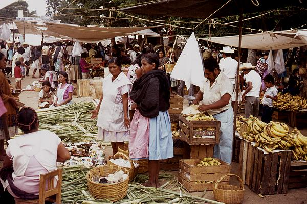 Street market in Oaxaca. Photo: Tony Burton
