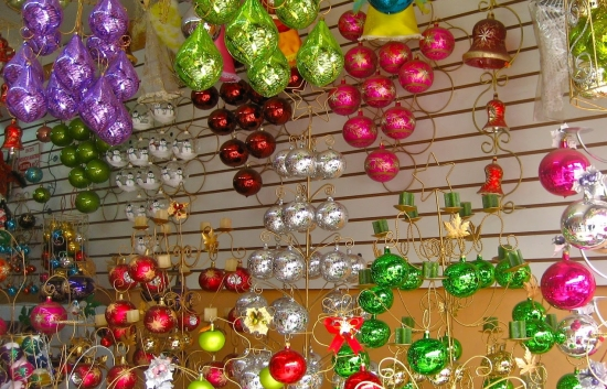 Christmas ornaments in Chignahuapan