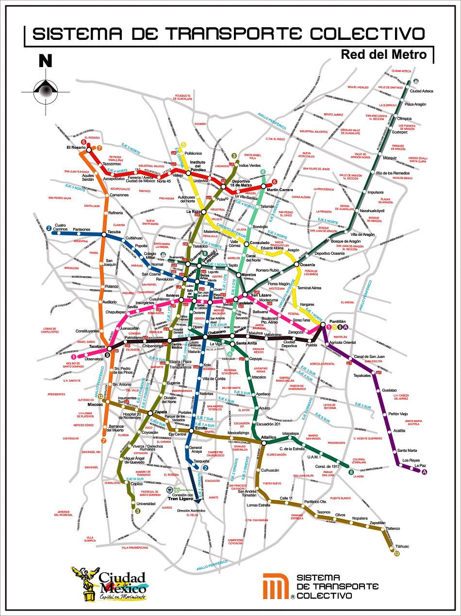 Mexico-City-Metro-Map