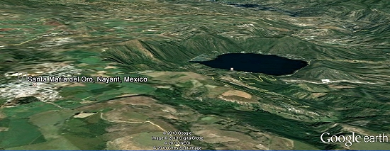Santa María del Oro. Credit: Google Earth