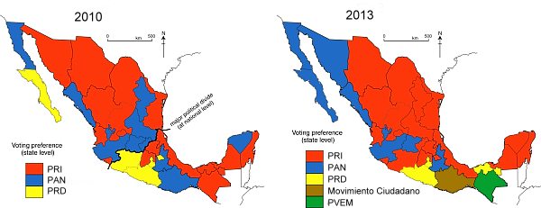 Political Parties By State Map.Obrador Geo Mexico The Geography Of Mexico