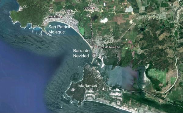 San Patricio Melaque (Google Earth)