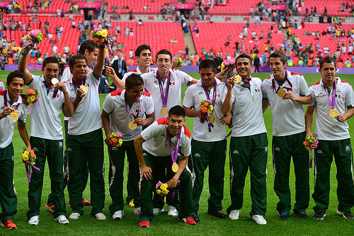 Mexican soccer team at London Olympics