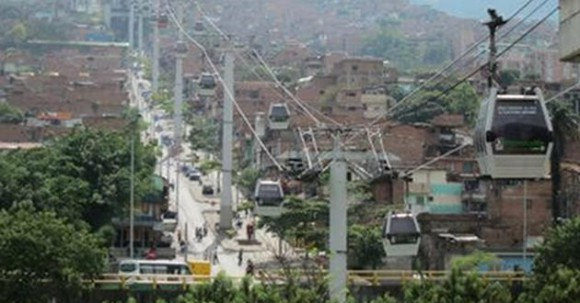 Similar cable car system in a South American city. Credit: unknown