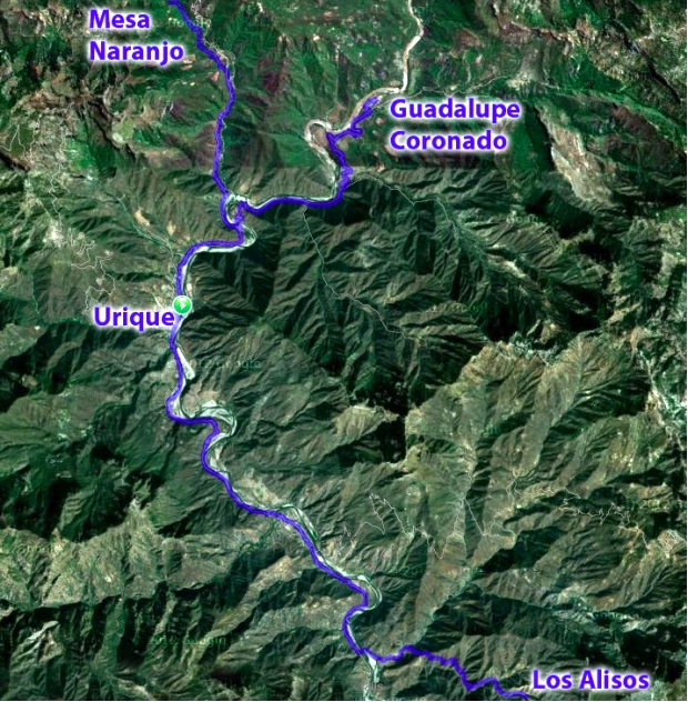 Route of Ultra Caballo Blanco