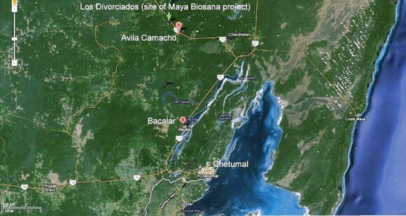 Google Earth image of southern Quintana Roo