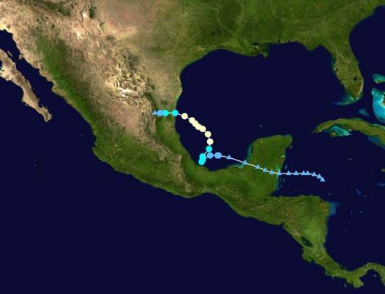 Track of Hurricane Ingrid