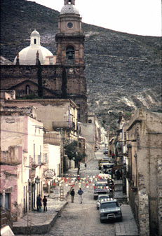 Main street of Real de Catorce. Credit: Tony