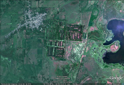 Google Earth image of camellones chontales