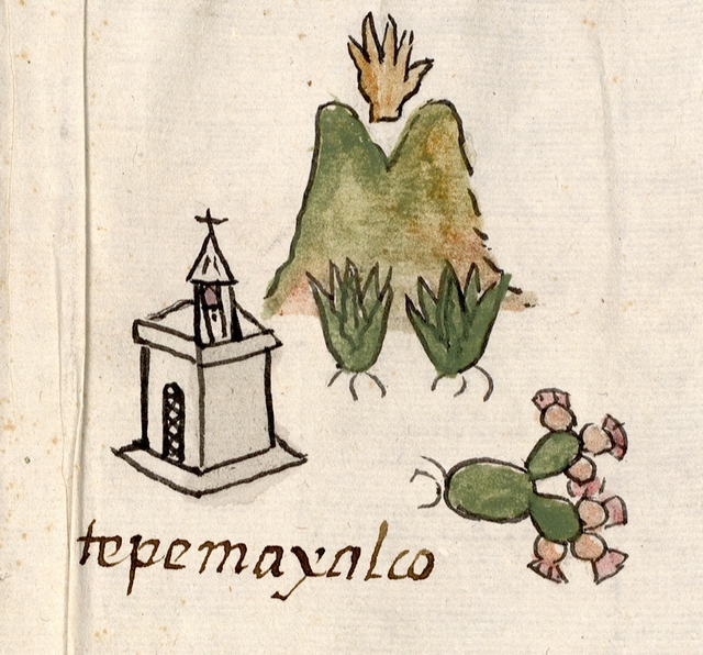 Detail of map, showing Tepemayalco