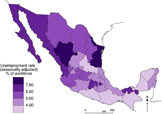 Map of unemployment rates