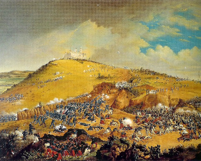Painting of Battle of Puebla