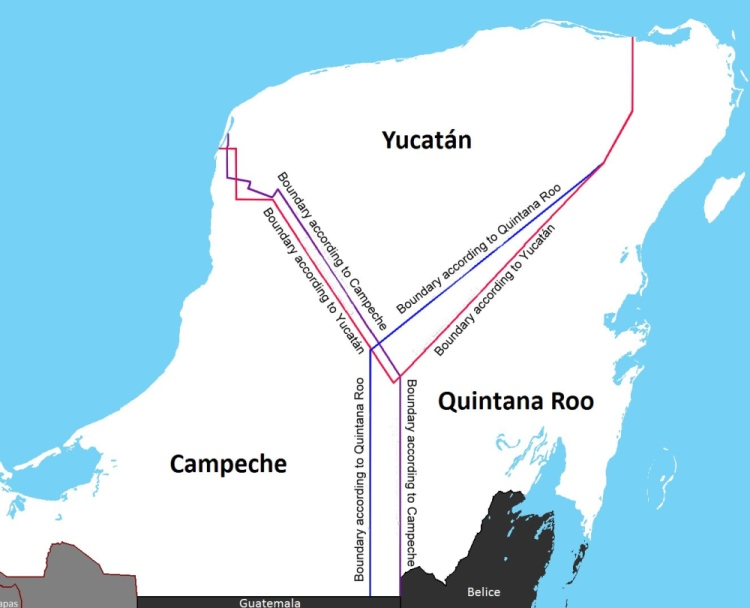 Boundary disputes in Yucatan Peninsula