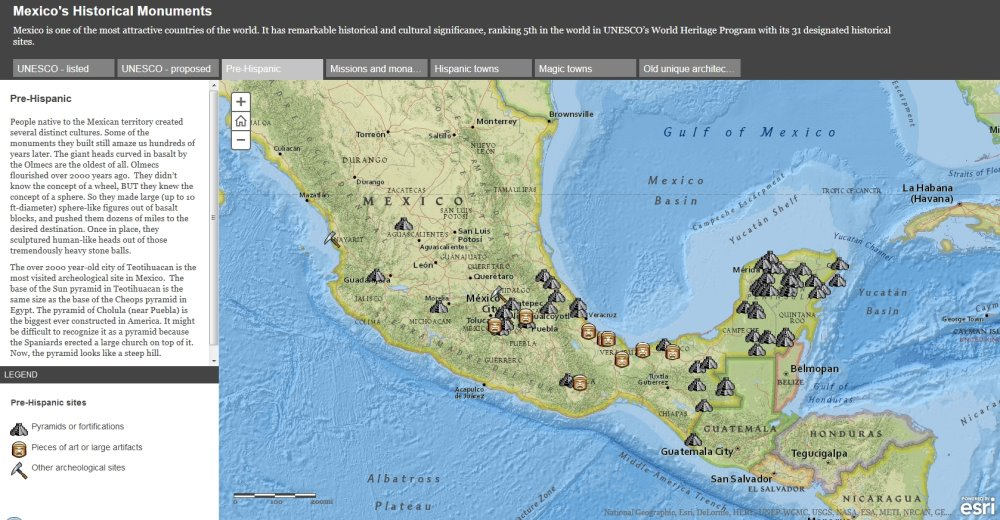 Screenshot from ESRI's story maps of Mexico.