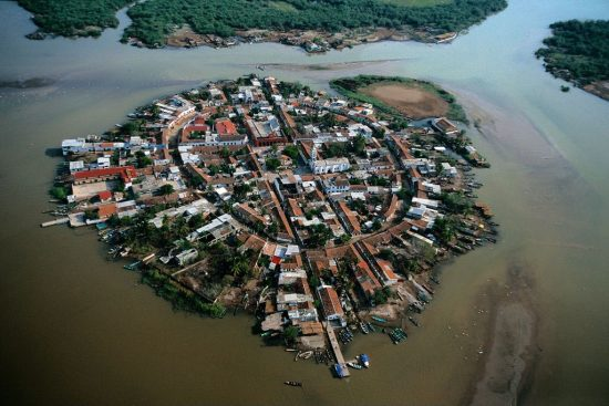 The island and village of Mexcaltián, Nayarit