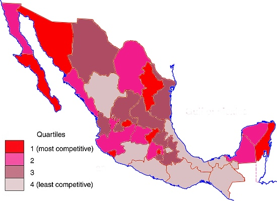 Mexico, 2014. Map: Tony Burton; all rights reserved