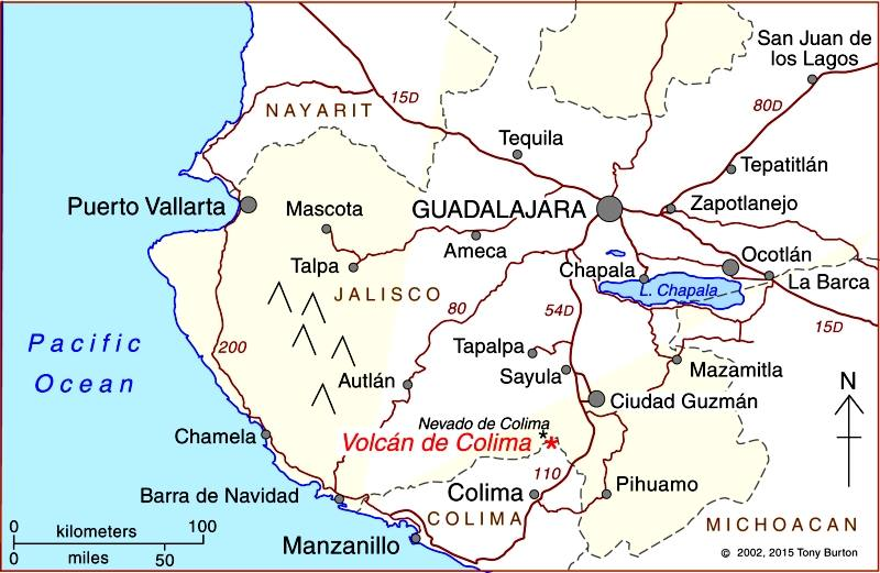 location of colima volcano