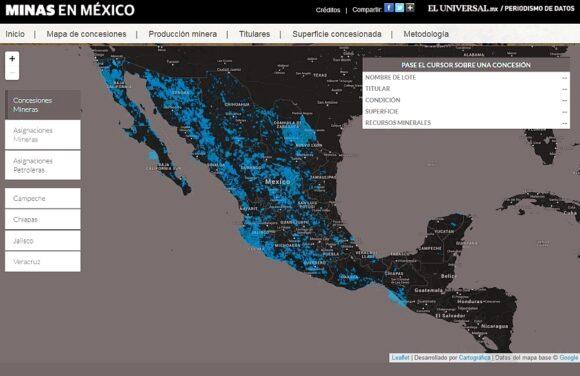 Screenshot of map from El Universal